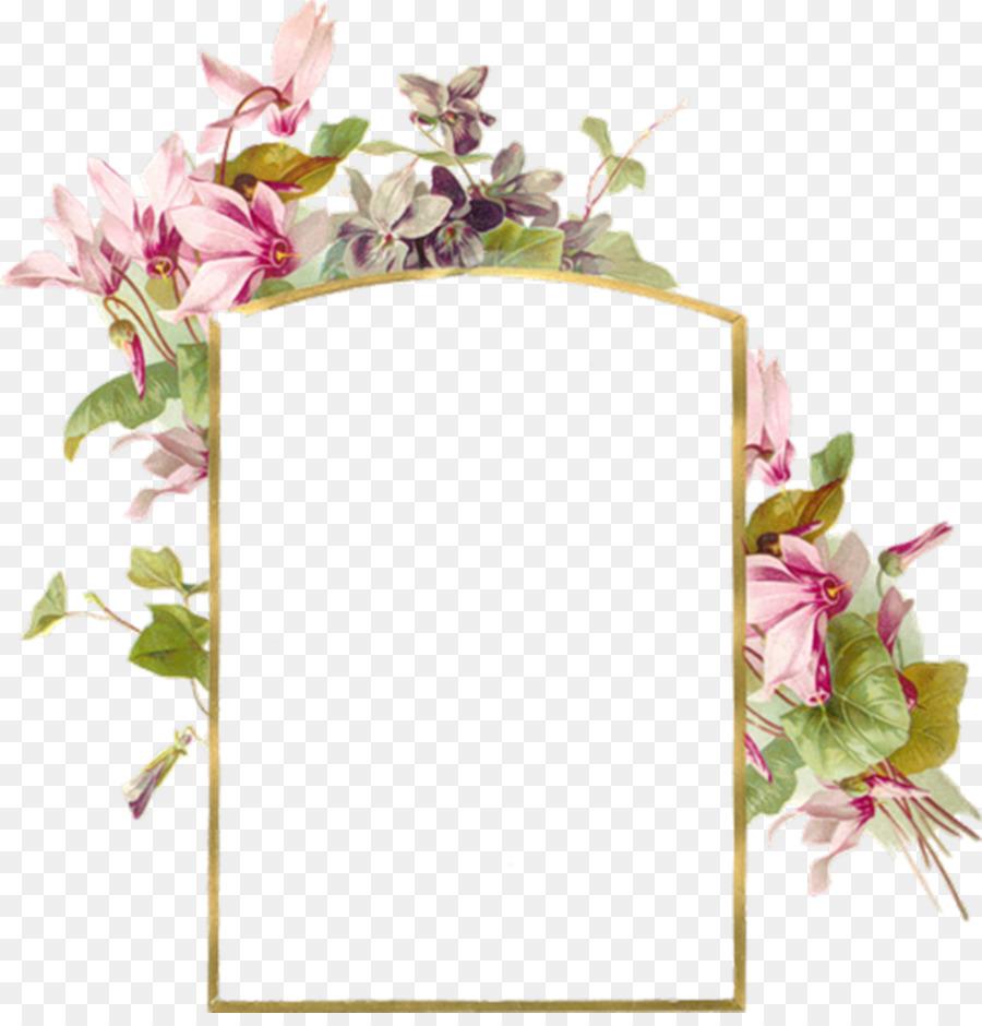 Floral Wedding Invitation Background Png Download 1000