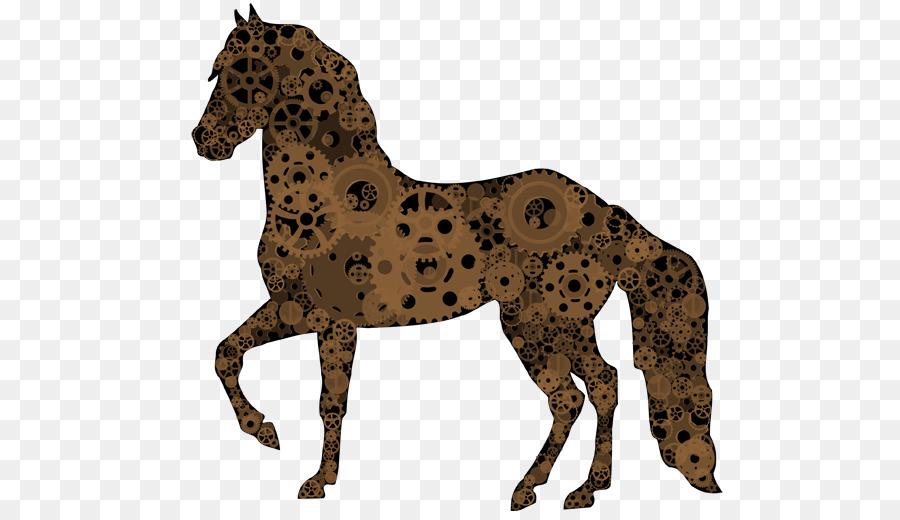 Pferd frau und tiger mann