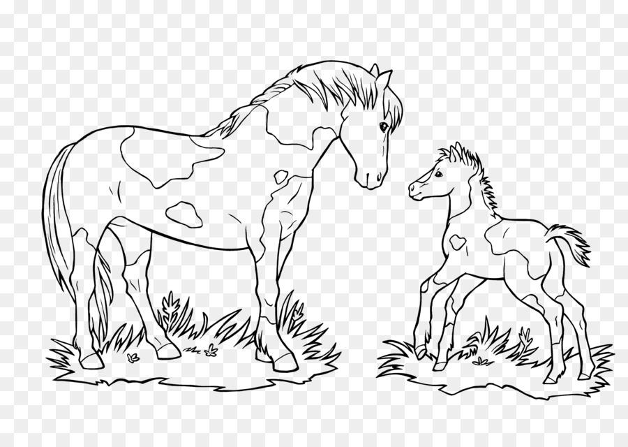 mustang puledro ausmalbild pony da colorare  mustang