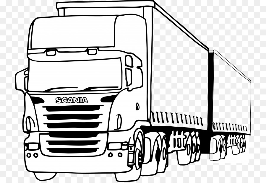 Der Scania AB der Pickup-truck Car Coloring book - pickup ...