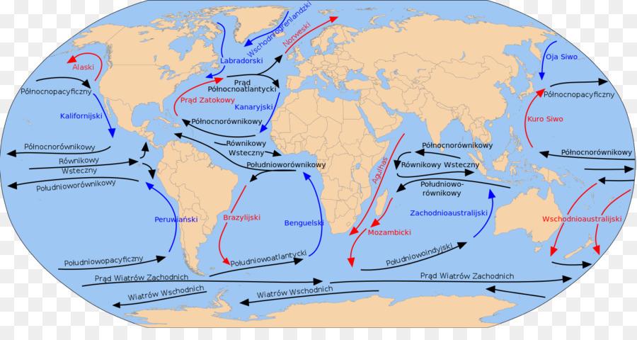 Ocean Current Cromwell Aktuellen Golfstrom Karte Aquatorial