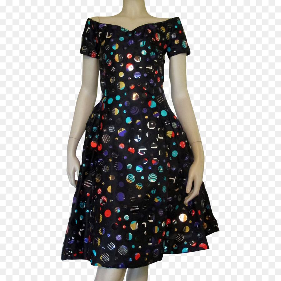 peek & cloppenburg polka dot fashion kleid kleidung - kleid