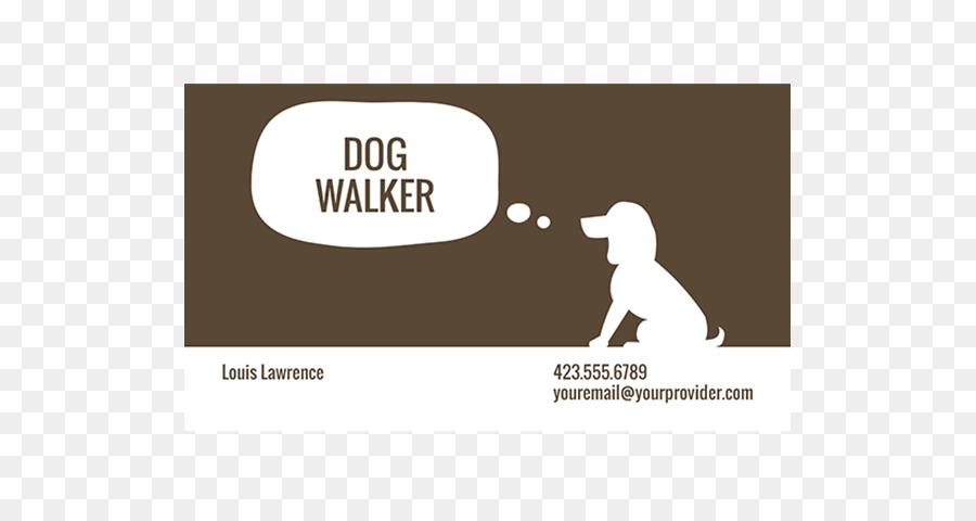 Pet Sitting Dog Walking Dog Pflege Visitenkarte Design