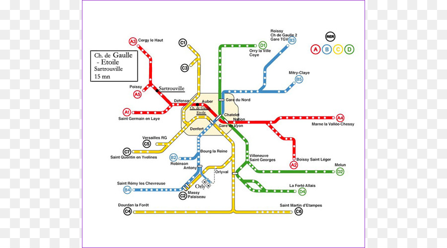 Bahn Rapid-transit-Map-Charles de Gaulle Airport Paris u ...