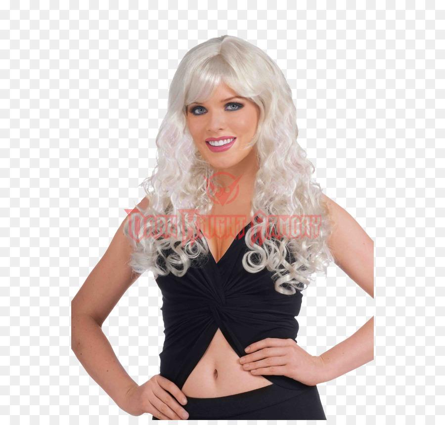 Perücke Blond Lange Haare Pferdeschwanz Haar Png