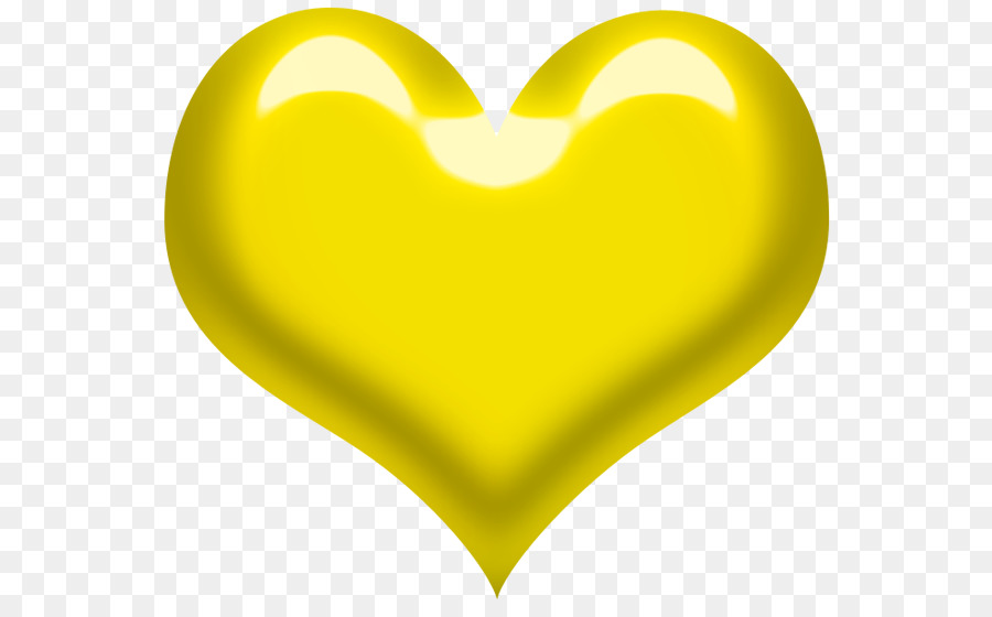 желтое сердце картинка хорошо