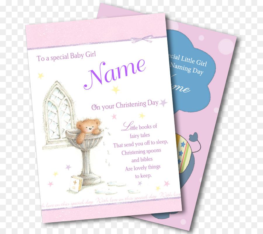 Gruß Grußkarten Schriftart Taufe Karte Png Herunterladen