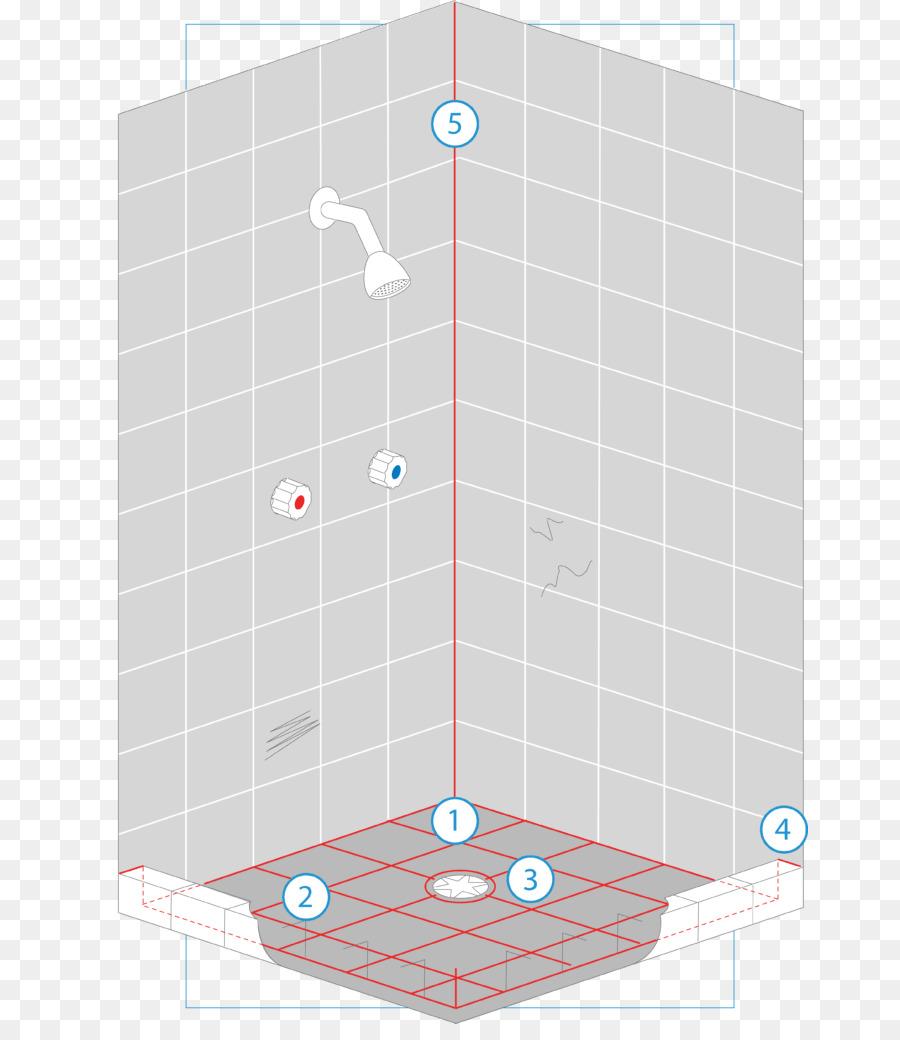 Dusche-Badezimmer-Fliesen-Muster - Kernpunkt png ...