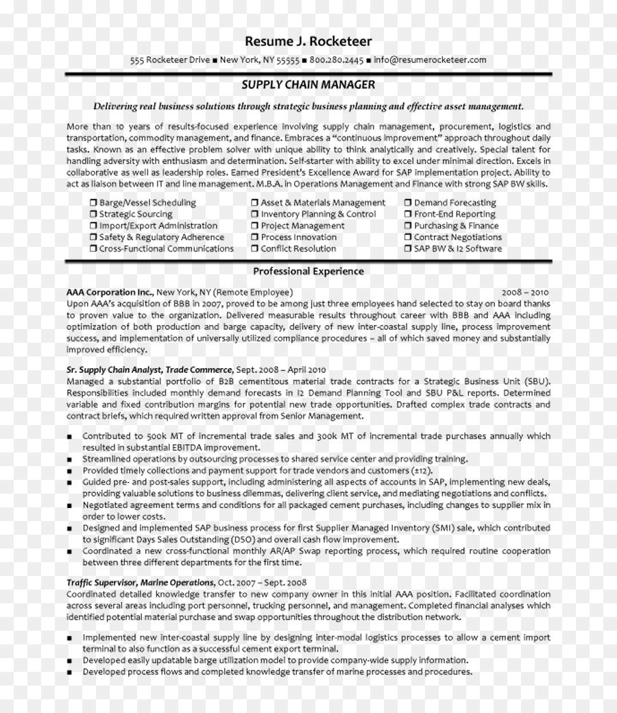 Zusammenfassung Supply Chain Management Logistics Job