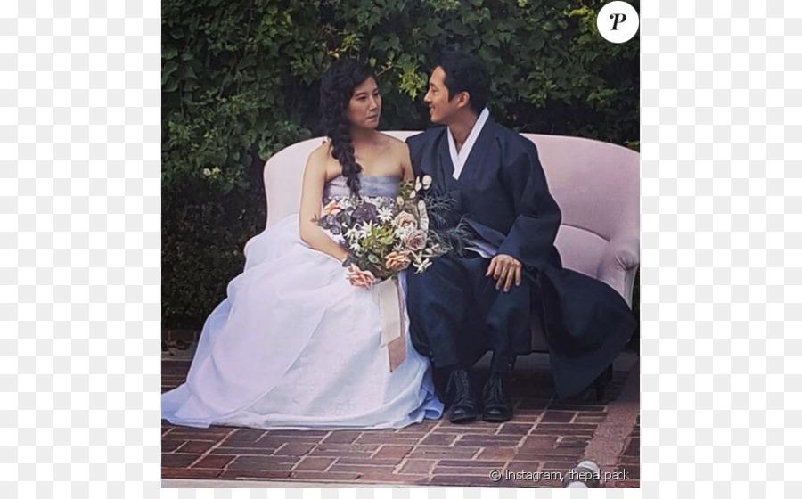 Glenn Rhee Freundin Hochzeit Schauspieler Ehe Hochzeit Png Herunterladen 950 578 Kostenlos Transparent Kleid Png Herunterladen