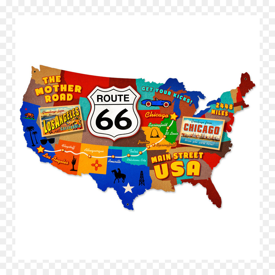US Route 66 in New Mexico Road map Road map - Straße png ...
