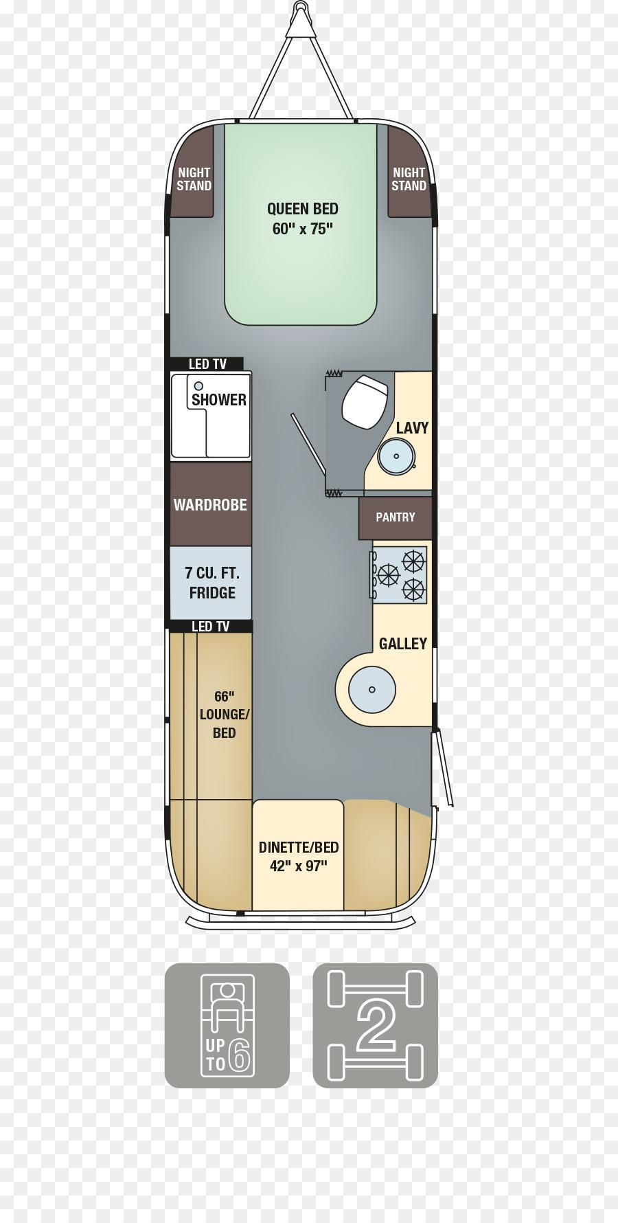 Airstream Floor Plan png download - 625