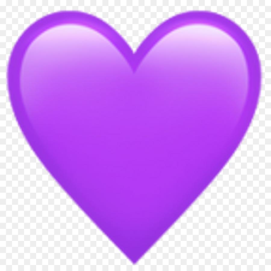 Emoji-Herz-Aufkleber Lila Liebe - Emoji png herunterladen