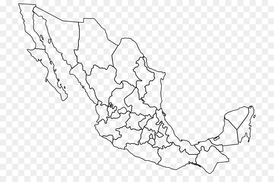 Mexico–United States border Leere map Baja California ...