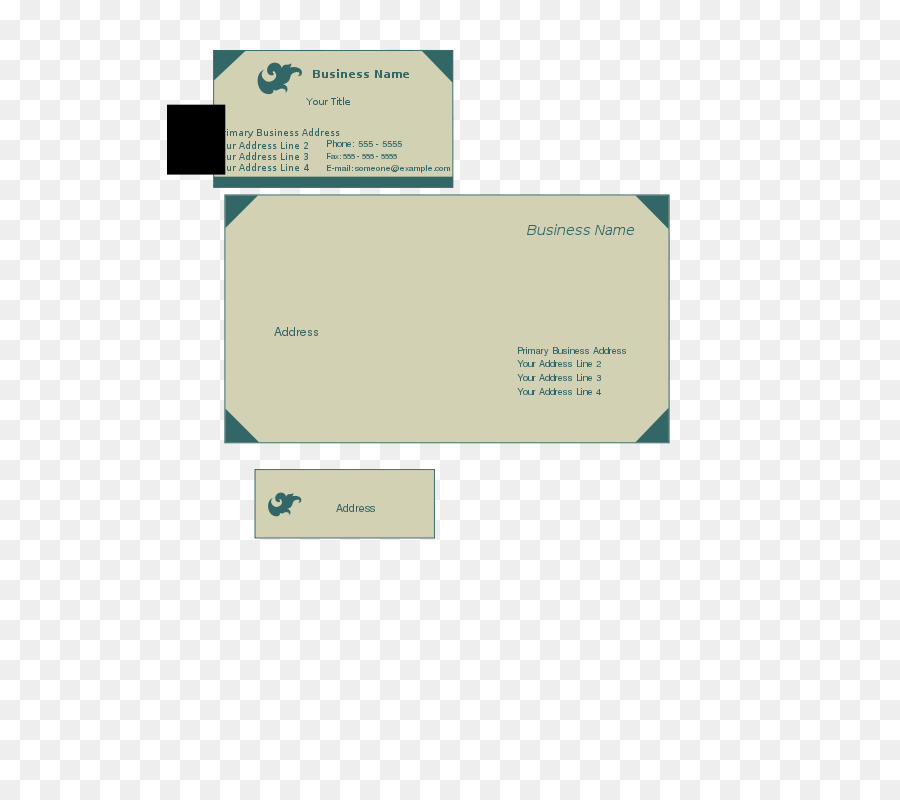 Papier Umschlag Vorlage Visitenkarten Briefpapier