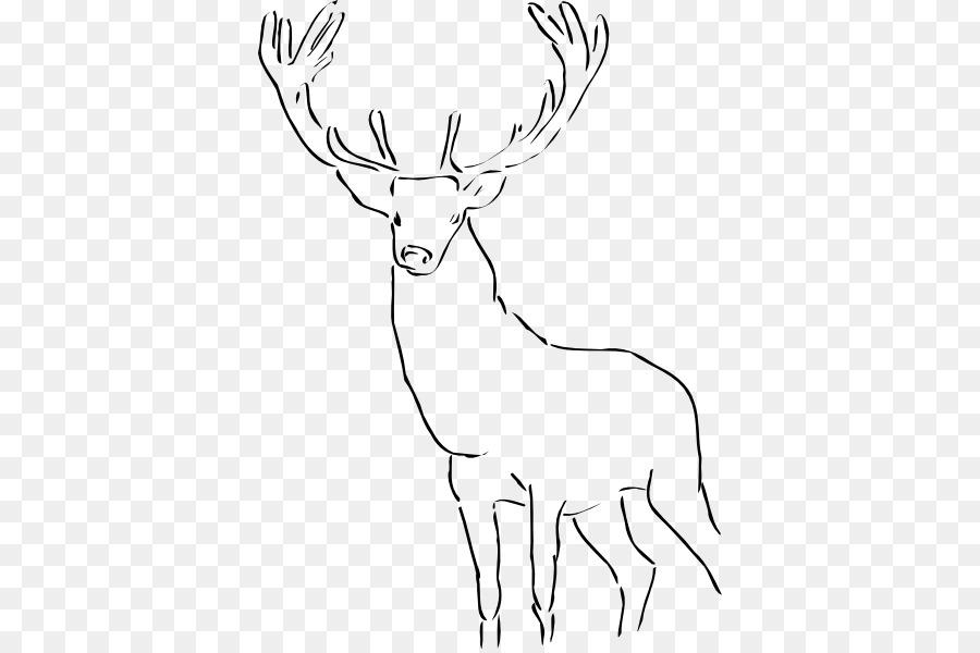 Reindeer White-tailed deer Elk , deer head transparent background PNG  clipart | Deer head silhouette, Moose illustration, Deer cartoon