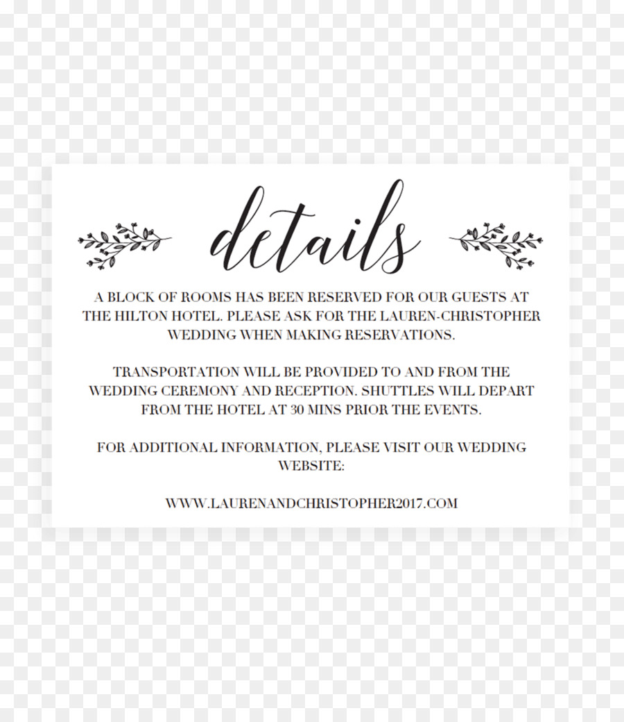 Wedding Invitation Text Png