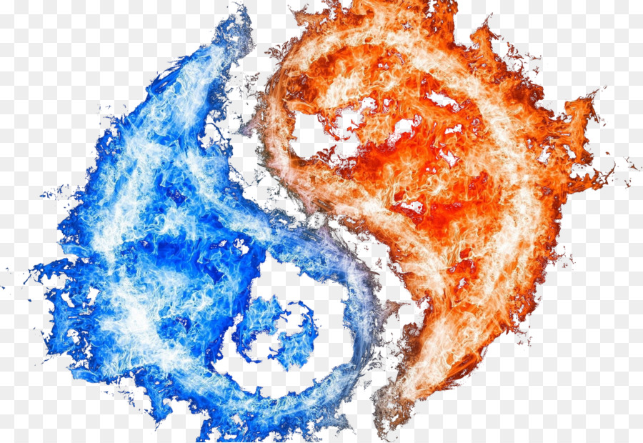 View Fire And Ice Yin Yang Symbol JPG