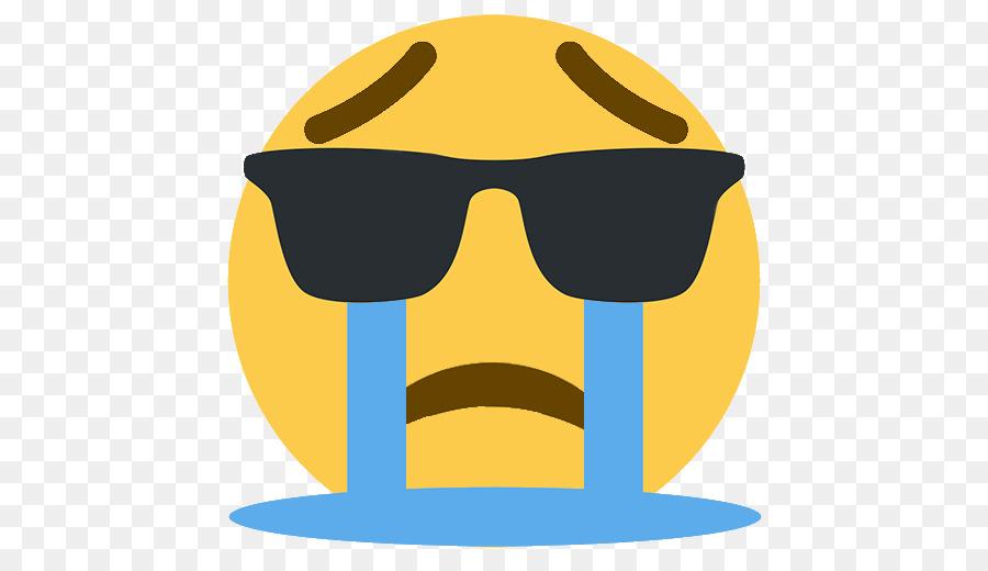 crying sunglasses emoji png download - 512 512