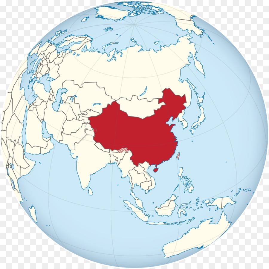 Globe World map China Erde - Globus png herunterladen - 1024 ...