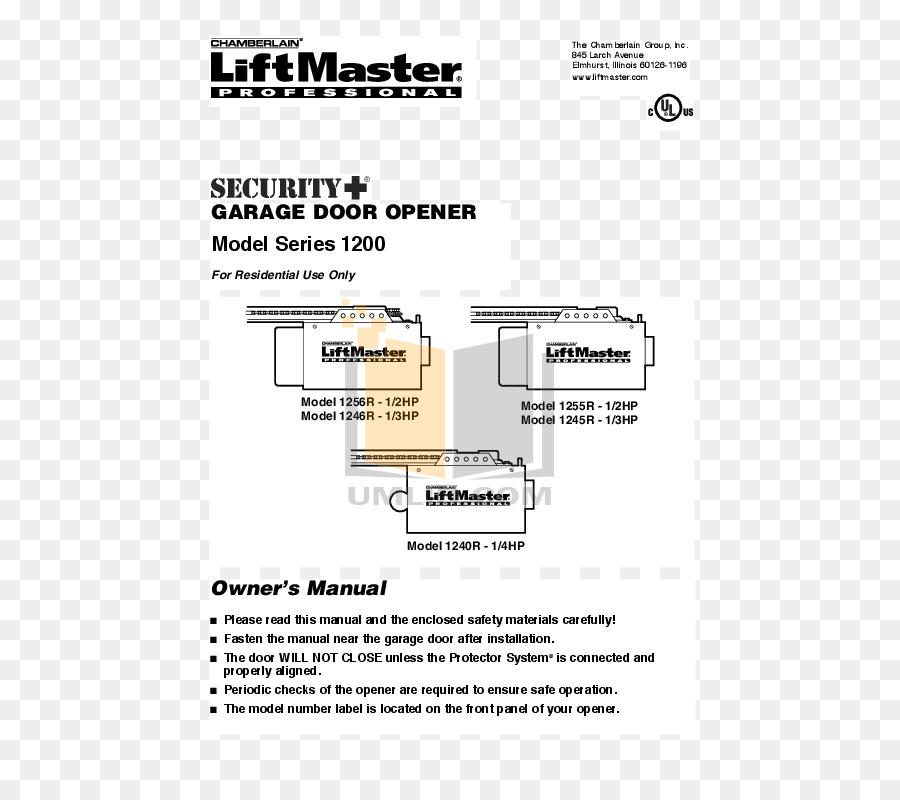Chamberlain Liftmaster 1 2 Hp Garage Door Opener Manual