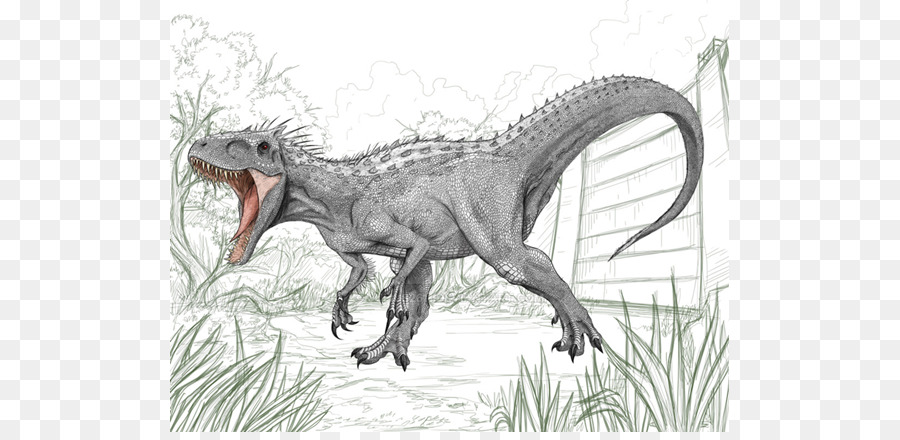 Tyrannosaurus Disegno Indominus Rex Di Jurassic Park Indominus