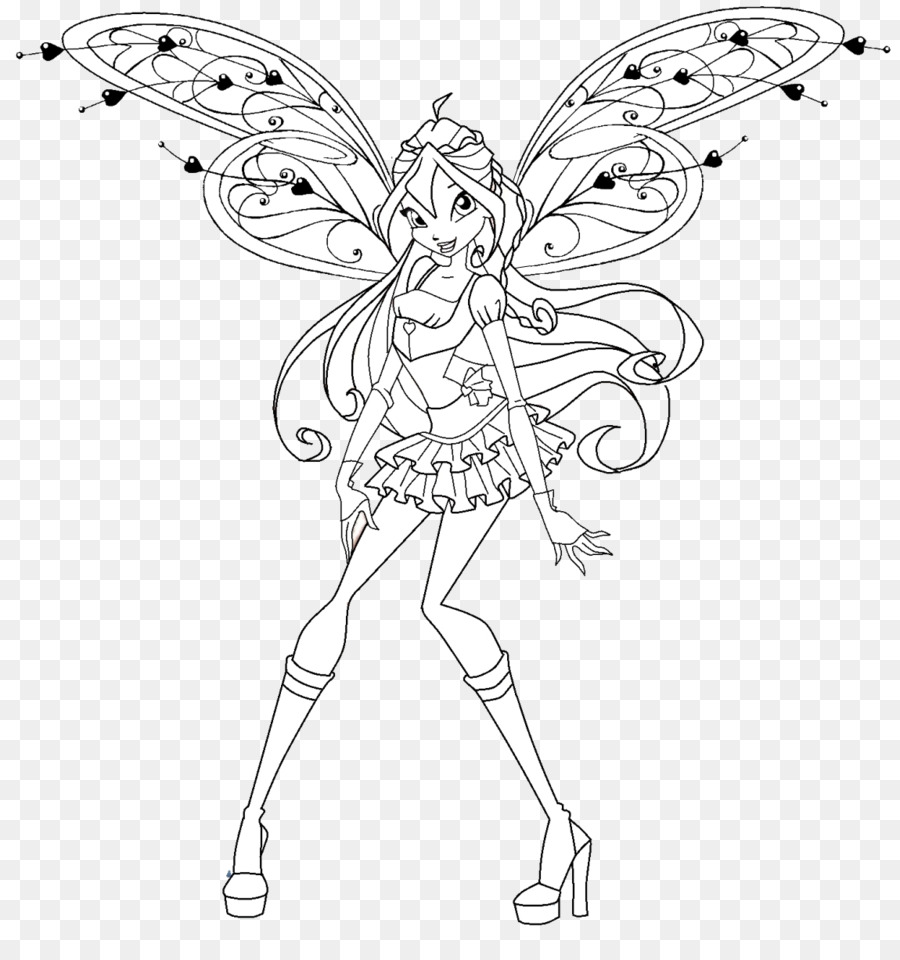 Butterfly Black And White Png Download 1150 1211 Free