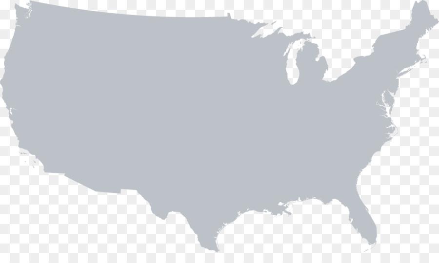 Usa Vektor Karte Vereinigte Staaten Png Herunterladen 1000 583