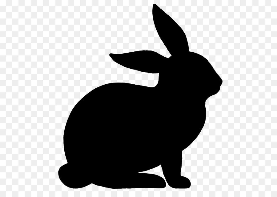 Hase Osterhase Kaninchen Silhouette Zeichnen Kaninchen Png
