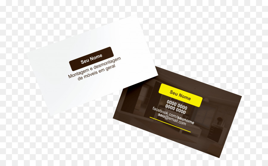 Visitenkarten Möbel Karton Film Editor Kreditkarte
