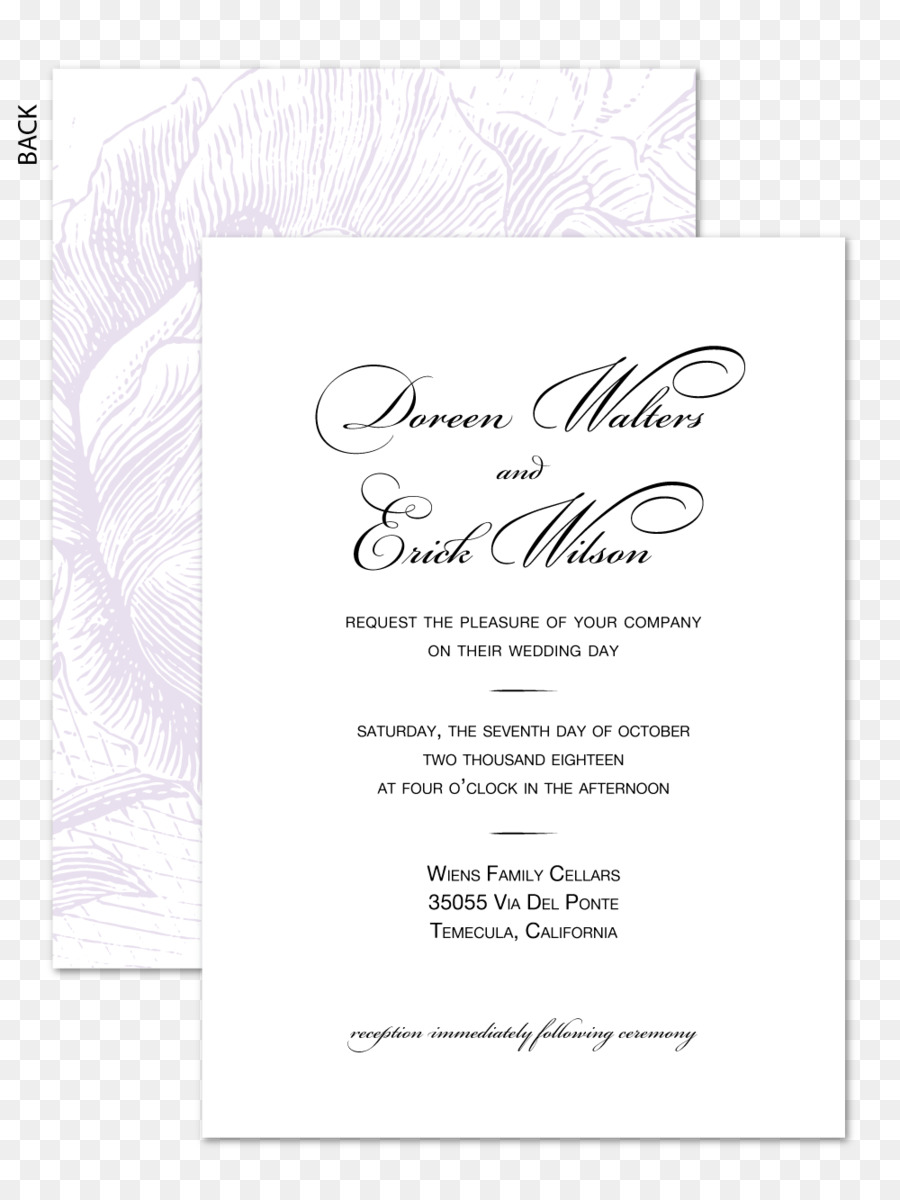 Wedding Invitation Text Png Download 1000 1333 Free