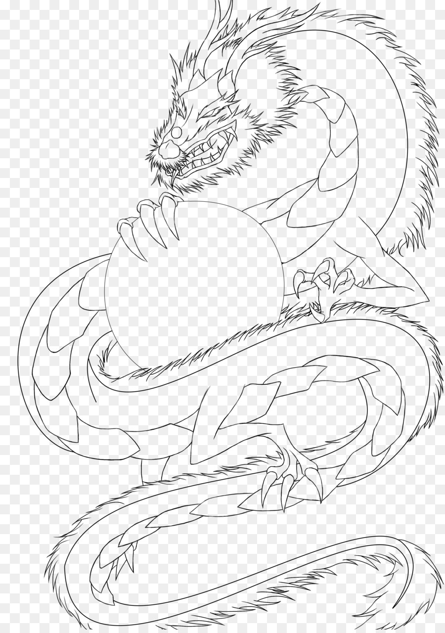 Dragon Drawing Line Art