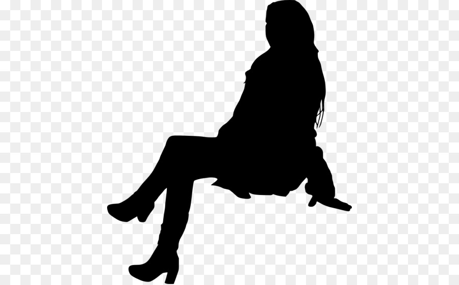 Foto Persone Sedute.Silhouette Persona Seduta Persone Sedute Silhouette