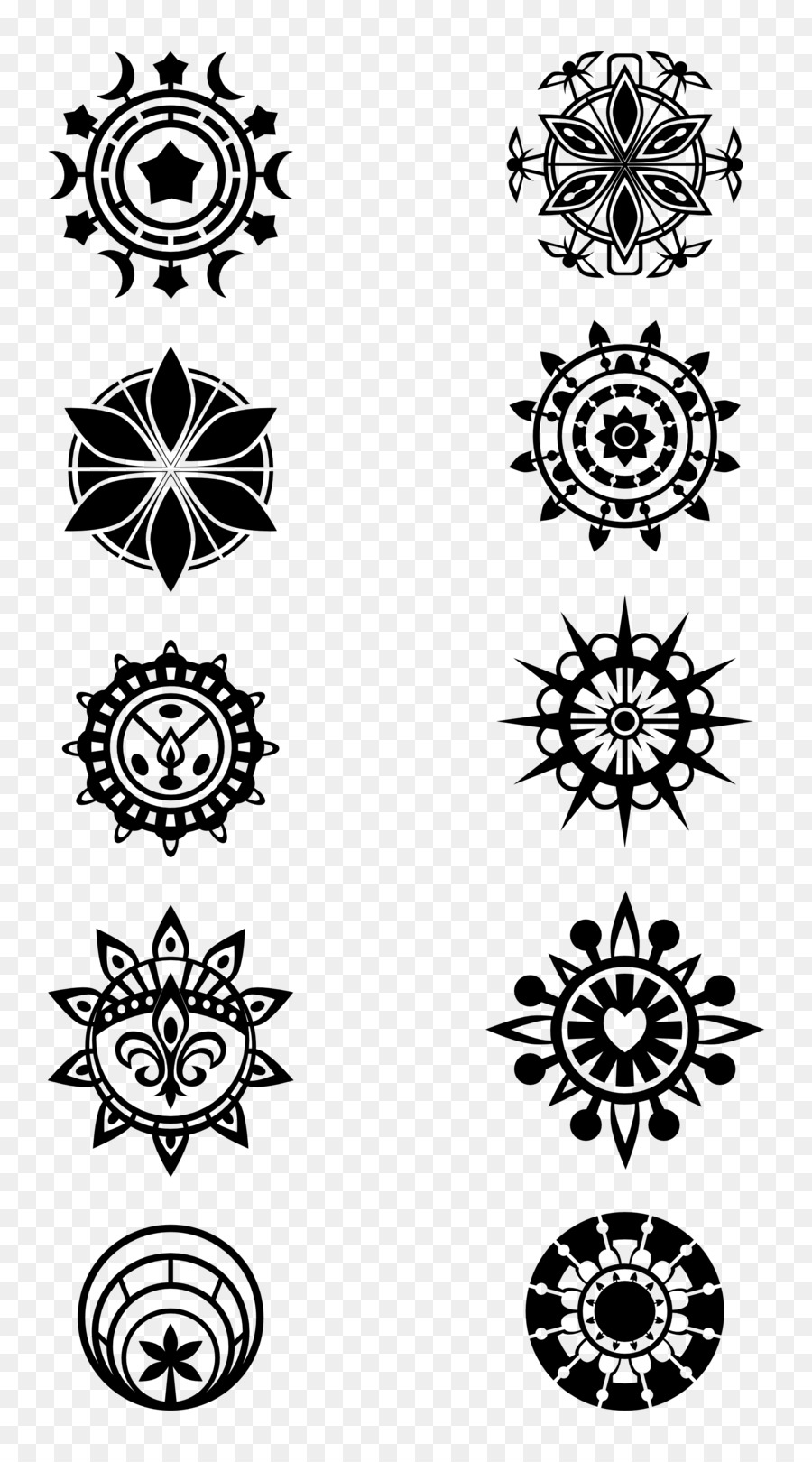 Black And White Flower Png Download 1969 3544 Free Transparent