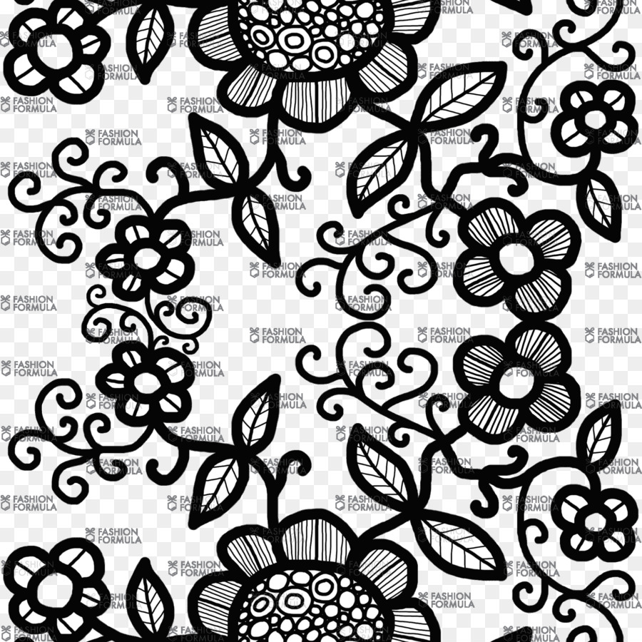 Black And White Flower Png Download 2000 2000 Free Transparent