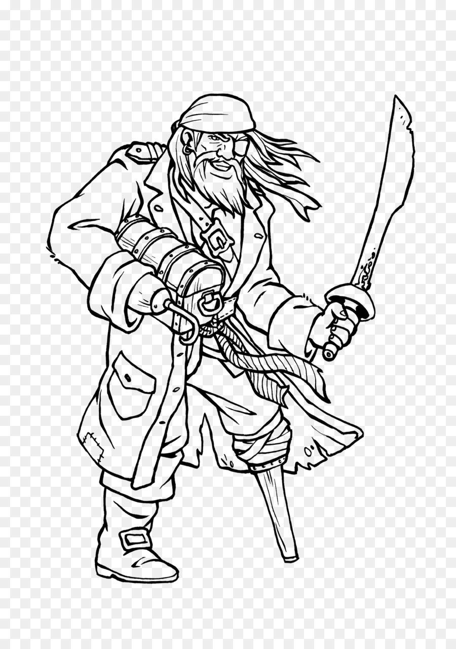 Zeichnung Malbuch Ausmalbild Bild Kunst - Piraten Papagei png
