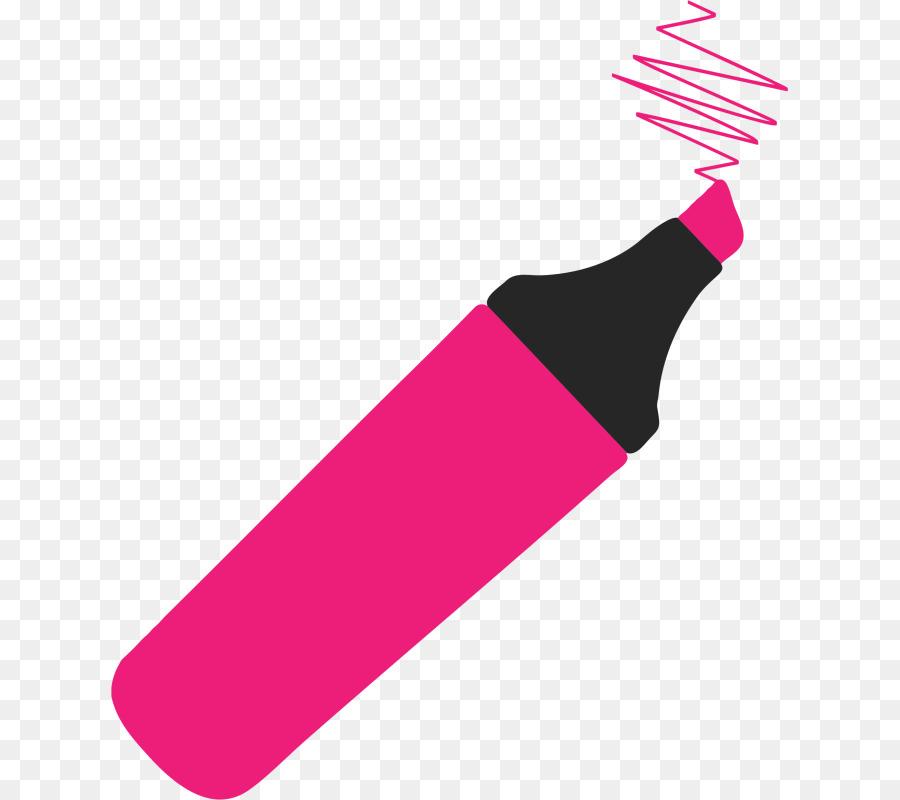 Marker Pen Drawing Highlighter Clip Art - Yellow Marker Clipart - Png  Download (#797329) - PinClipart