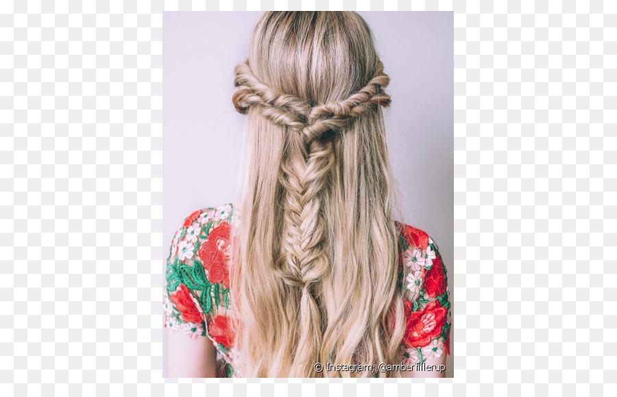 Lange Haare Zopf Blond Frisur Haar Png Herunterladen 790 569