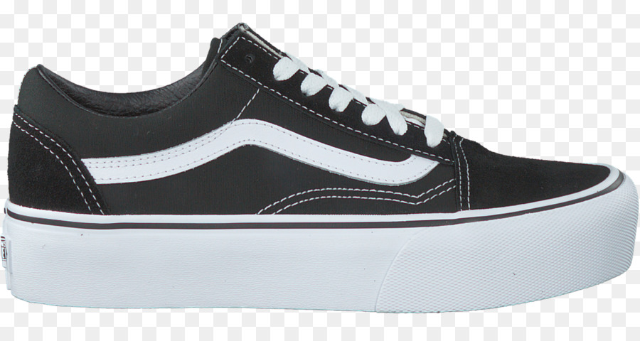 Vans Old Skool Plattform Sport Schuhe Vans Black & White Old