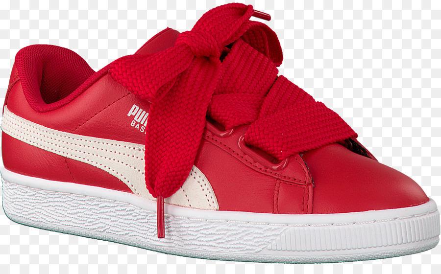 puma basket vermelho