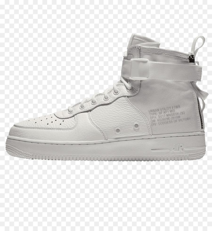 Herren|Damen Nike Hohe Sneaker | Nike SF Air Force 1 Mid Schuhe beige