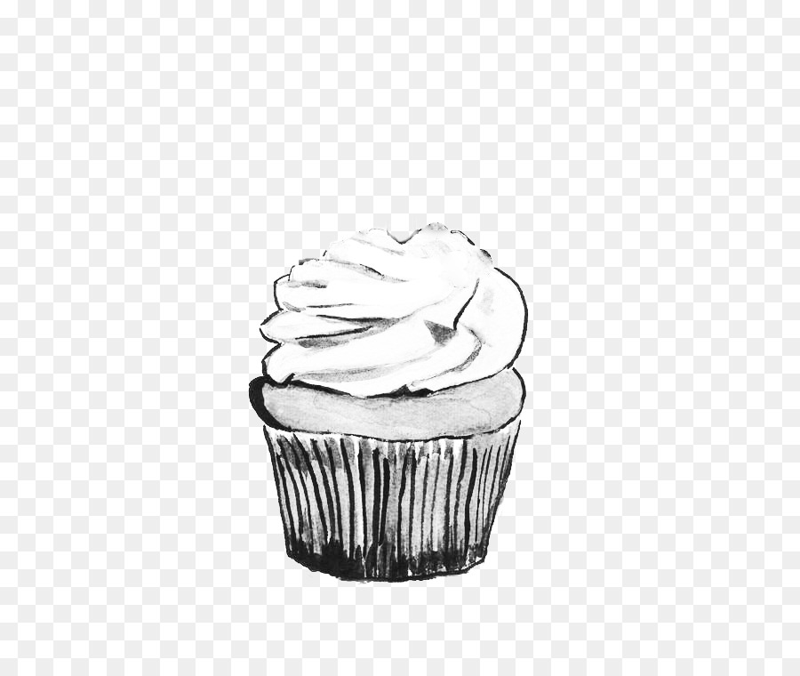 Black And White Cupcake With Sprinkles Geburtstagskalender