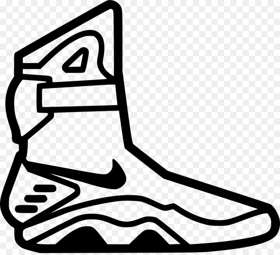 Nike Mag Marty McFly Schuh Zeichnung Nike png
