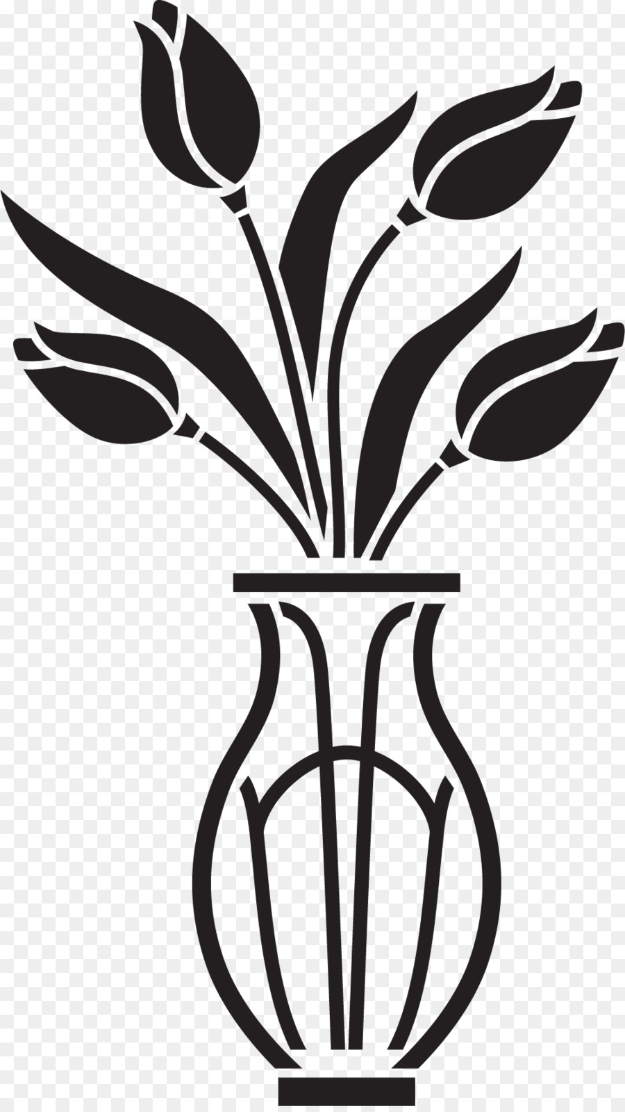 Black And White Flower Png Download 995 1759 Free Transparent Flowerpot Png Download Cleanpng Kisspng
