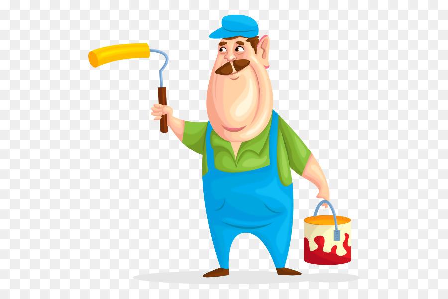 Haus Maler Und Lackierer Vektor Grafik Illustration Malerei Lustig Arbeitnehmer Png Herunterladen 600 600 Kostenlos Transparent Kopfbedeckung Png Herunterladen