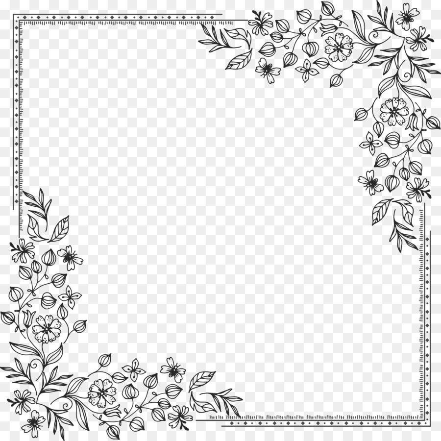 Border Design Black And White Png