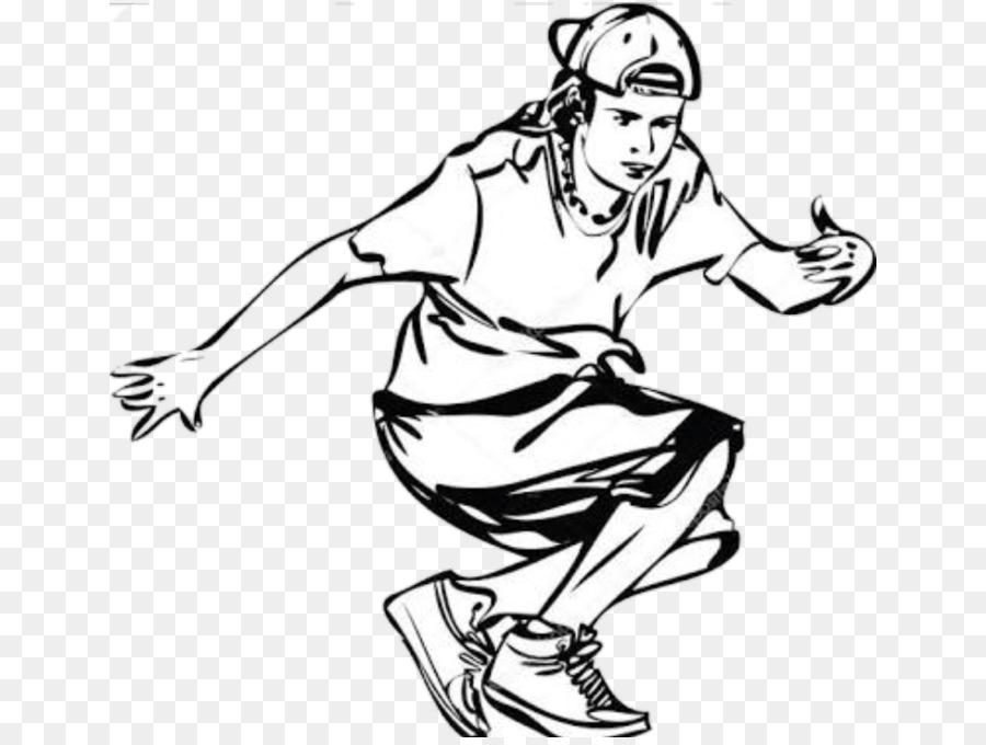 человек танцующий хип-хоп раскраска