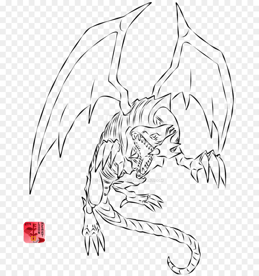 - Line Art Zeichnung Coloring Book Clip Art - Drachenzeichnung Png