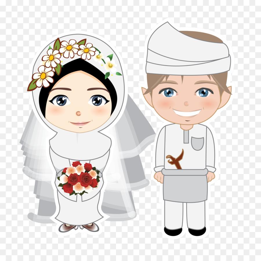 Muslim Wedding Cartoon Png 1600 1600 Free