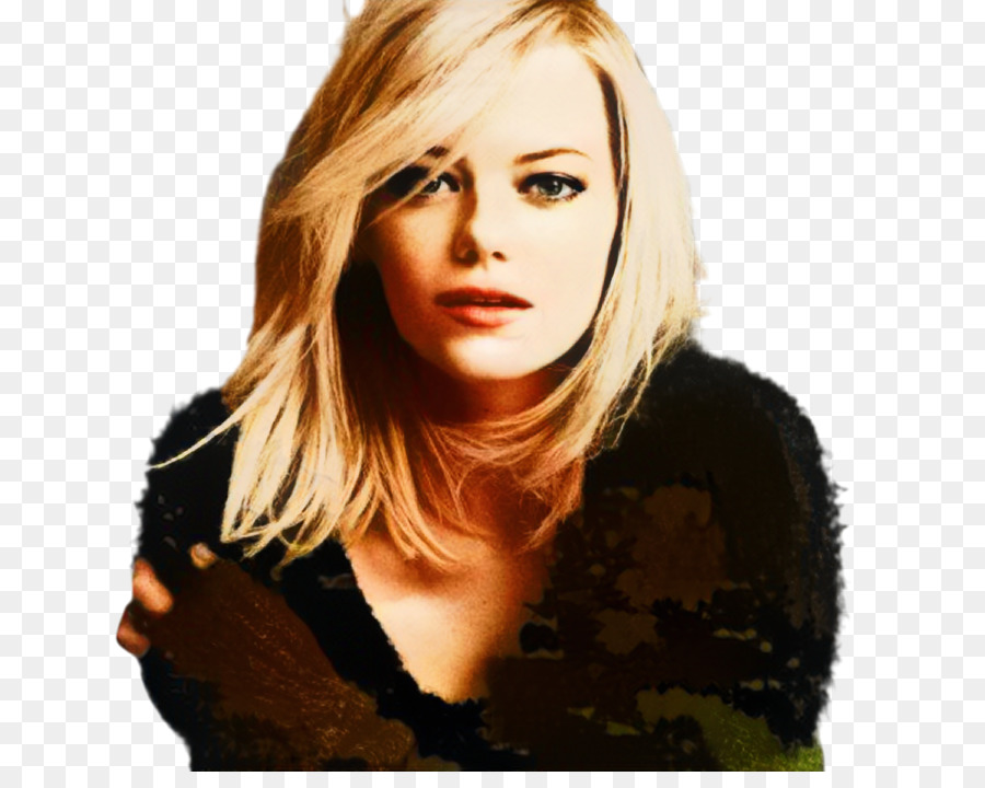 Emma Stone Blonde Frisur Mehrschichtiges Haar Bob